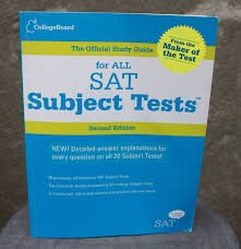 the official study guide for all sat subject tests 2nd edition