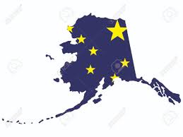 Alaska State Map by Map And Flag Of The State Of Alaska Royalty Free Cliparts Vectors