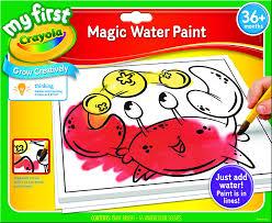 amazon com crayola my first magic water paint set toddler art