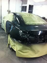 lexus black paint vehicle panel painting van nuys auto body shop collision