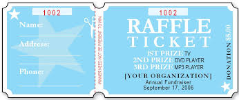 sample raffle ticket templates free printable template sample