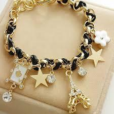 gold cord bracelet images Women accessories 3 colors charm bracelets eiffel tower gold color jpg