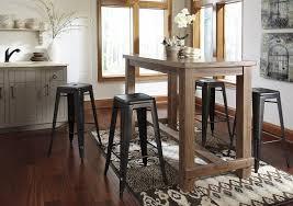 dining room stools pinnadel dining room bar tabl 4 tall stools d542 12 030 4 bar