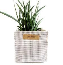 square plant pot white