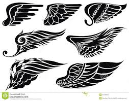 wings tattoo stock vector image of antique ornament 33785951