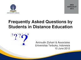 pendaftaran tutorial online ut ppt frequently asked questions by students in distance education