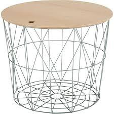 table bout de canap bout de canapé en métal blanc h41cm gossa meubles salon salle