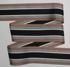 striped grosgrain ribbon black white taupe stripes grosgrain ribbon 6 yards 2 inch wide