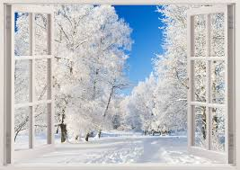 winter park in snow wall decals 3d window snow park wall