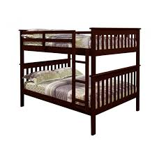 Donco Kids Full Over Full Bunk Bed With Attached Ladder In Dark - Donco bunk beds
