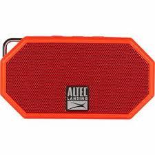altec lansing imw257 dr ta mini h2o rugged bluetooth speaker red