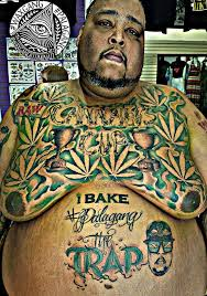 best craziest weed tattoos