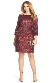 love deep reds for the holidays plus size sequin shift dress