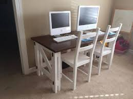Free Plans To Build A Computer Desk by Remodelaholic Computer Desk Reveal