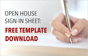 House Specification Sheet by Real Estate Open House Sign In Sheet Free Template Download