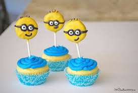 Minion Cake Decorations Minion Cupcake Toppers In Decoration Stuff For Cupcakes And Muffins