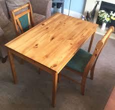 pine chairs ikea jokkmokk solid pine kitchen table u0026 2 solid pine chairs green