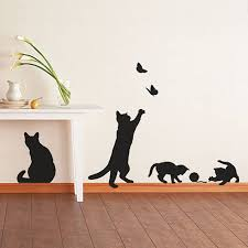 beautiful cat wall decals make cat wall decals