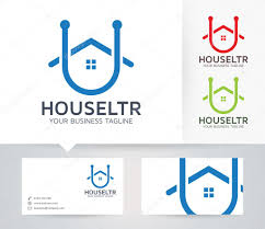 house letter u vector logo with alternative colors and business