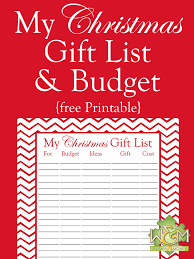 gift shopping list christmas gift list and budget printable women and money inc