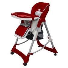 vidaxl chaise haute deluxe et réhausseur pour bébé bordeaux siège