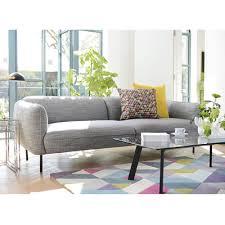 valletta three seater sofa dark grey dwell