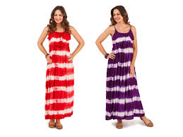 womens strappy maxi full length summer dress ladies tie dye