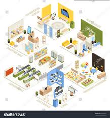 beauty salon floor plans shopping mall electronics store children playroom stock vector