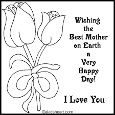 coloring pages mother u0027s day cards diplome best images