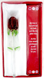 Glass Rose Amazon Com Forever Rose Valentines Day Or Special Occasion