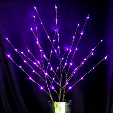 lighted branches branches with 60 purple leds in ul adapter with cord