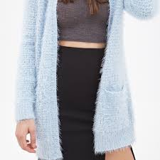 light blue cardigan sweater forever 21 sweaters fuzzy light blue cardigan poshmark