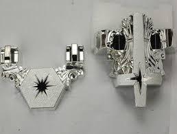 Silver Decorative Accessories 12 Silver Plastic Casket Corner Decorative Star Funeral Accessories