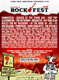 Riot Fest Chicago Map by Montebello Rockfest U2013 June 22 25 2017