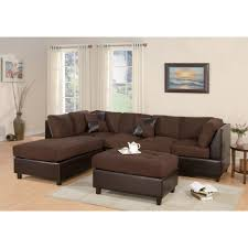 living room sectional sofa with reversible chaise tufted w