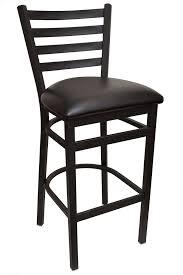industrial metal bar stools with backs minimalist gladiator ladder back metal bar stool with black vinyl