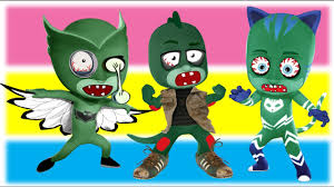 pj masks zombie coloring pages for kids zombies coloring youtube