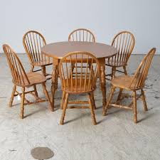 cochrane dining room furniture cochrane furniture oak table and six windsor style chairs ebth