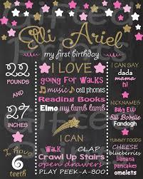birthday chalkboard twinkle twinkle little star theme