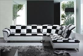 Black And White Leather Sofas For Modern Living Room Decorations - Different sofa designs