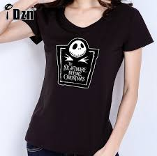summer fashion t shirts the nightmare before