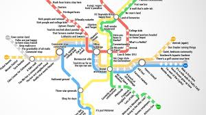 Washington Subway Map by Thrillist Just Created The Most Accurate D C Metro Map Ever