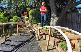 backyard architecture san francisco superdad builds homemade roller coaster in his