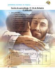 sesiones desarrolladas de religion de religion primaria