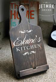 Personalized Kitchen Gifts by Personalized Cutting Board Ipad Stand Tablet Stand Wooden Kindle