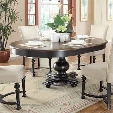 Riverside Furniture Williamsport RoundOval Dining Table In Nutmeg - Oval kitchen table