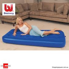 bestway inflatable flocked air mattress single bed online