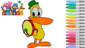pocoyo coloring book pato colouring pages preschool