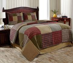 3pc bryan country king size quilt set by olivias heartland green