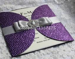 purple wedding invitations aliexpress buy hi7006 luxurious chagne wedding invitation